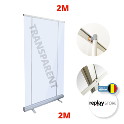 Protection plastique Roll Up hauteur 200cm + 2 options de largeur