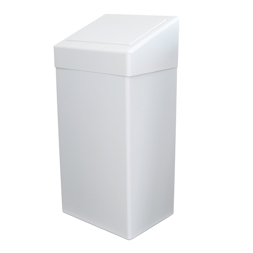 [SC64947]  Waste garbage can with valve lid 50 liters in enamelled steel