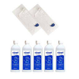 [SC64983] Clinell hand disinfectant 520 ml with PromoPack pump x5 pieces