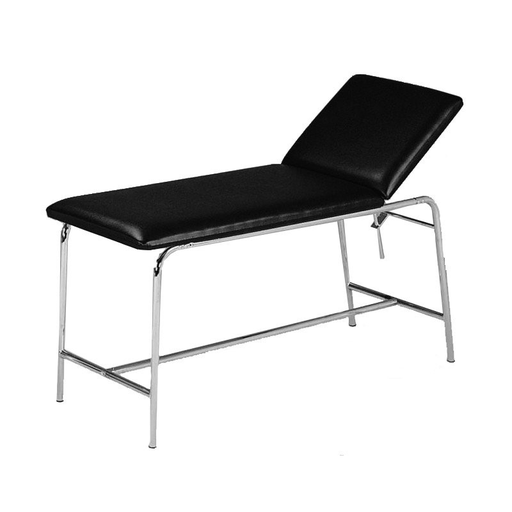 [SC67021] Examination table with round steel tubes and roll holder