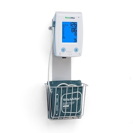 [SC81785] Wall mount with basket for Welch Allyn PROBP 2400 digital blood pressure monitor.