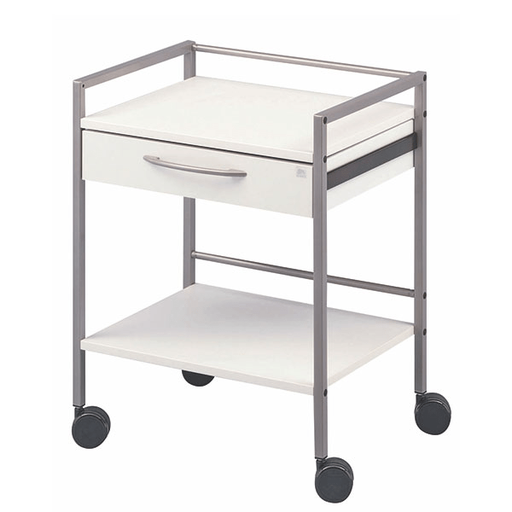[SC82062]  Multifunctional cabinet trolley 1 drawer on wheels