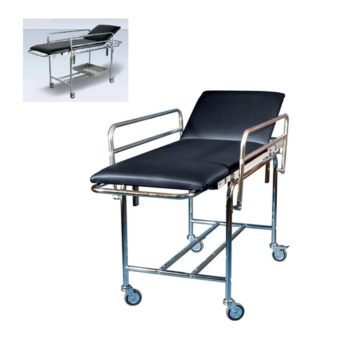 [SC82229]  Removable stretcher trolley with headrest and wheels